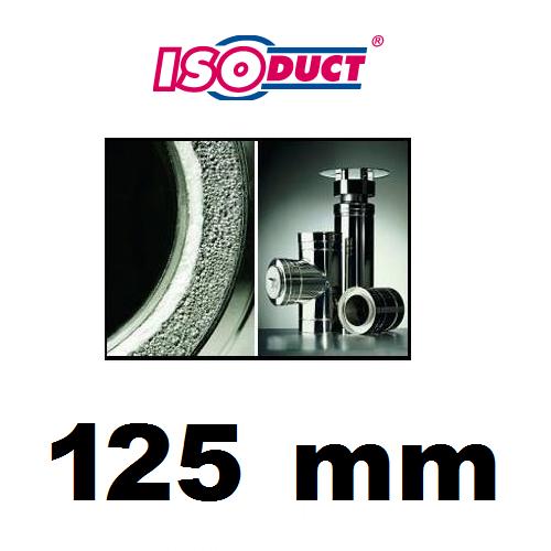 Houtstook enzo Isoduct 125 mm dubbelwandige rookkanaal kachelpijp pelletkachelpijp
