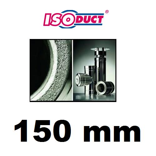 Houtstook enzo isoduct 150 mm rookkanaal dubbelwandig