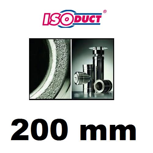 Houtstook enzo isoduct 200 mm rookkanaal dubbelwand