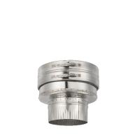 Houtstook enzo ISOduct DW 125 mm aansluitstuk DW/EW