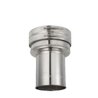 Houtstook enzo rookkanaal isoduct 150 mm dw aansluitstuk met nisbus