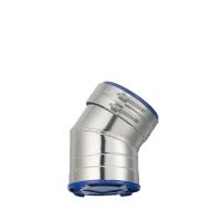 Houtstook enzo rookkanaal isoduct 150 mm dw bocht 35 graden