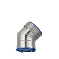 Houtstook enzo ISOduct DW 125 mm bocht 45 graden