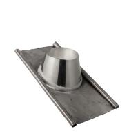 Houtstook enzo rookkanaal isoduct 125 mm dw dakdoorvoer loodslab 15-40 graden